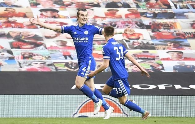 Leicesteri tänased väravalööjad: Caglar Söyüncu (4) ja Luke Thomas (33). Foto: Scanpix / Peter Powell / EPA