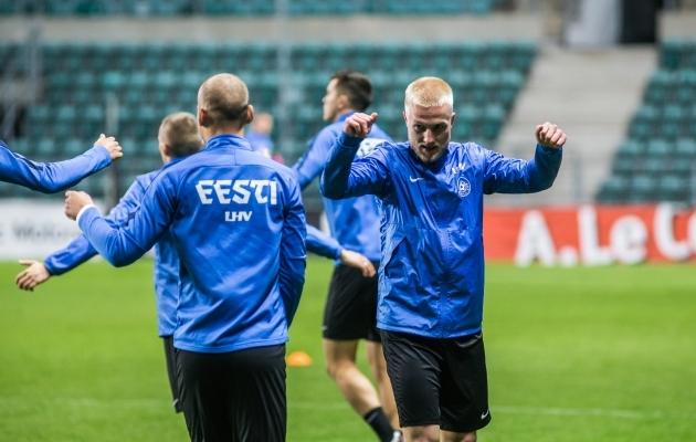 Henri Järvelaid koondises. Foto: Jana Pipar / jalgpall.ee