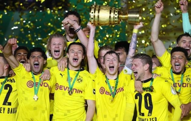 Dortmund võitis esimest korda peale 2017. aastat karikasarja. Foto: Scanpix / Martin Rose / AFP via Pool