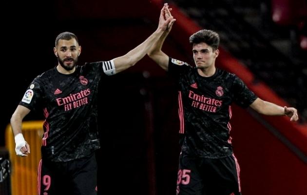 Karim Benzema (vasakul) lõi täna viimasena värava. Foto: Scanpx / Fermin Rodriguez / AP Photo