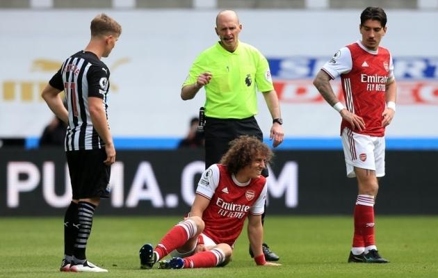 David Luiz sai kohtumises Newcastle'iga vigastada. Foto: Scanpix / Lindsey Parnaby / PA Images