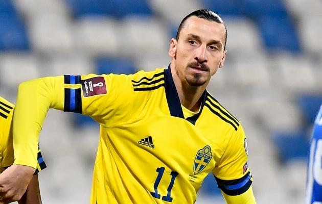 Rootsi koondise ründaja Zlatan Ibrahimovic. Foto: Scanpix / EPA / Georgi Licovski