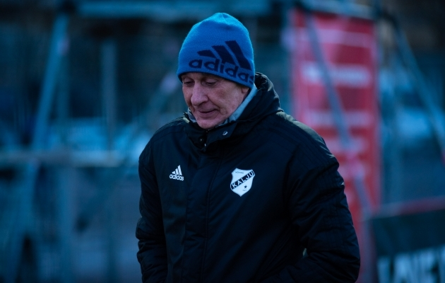 Nõmme Kalju peatreener Sergei Frantsev. Foto: Liisi Troska / jalgpall.ee