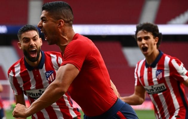 Barcelonale ei kõlvanud, aga Atleticole toob tiitli? Luis Suarez on endiselt hoos. Foto: Scanpix / AFP / Gabriel Bouys