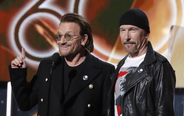 Bono ja The Edge, U2 raudvara. Foto: Scanpix / Reuters / Lucas Jackson