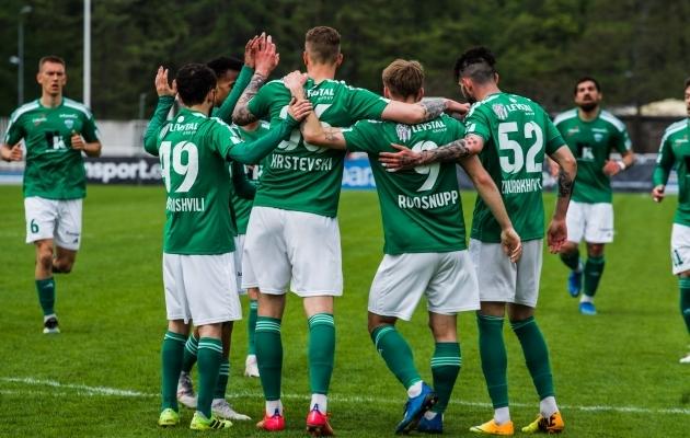 Levadia lõi Vaprusele neli väravat ja sai sümboolses koosseisus neli kohta. Foto: Markus Mangusson