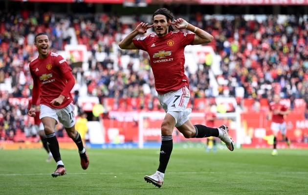 Edinson Cavani alustas ilusti, aga United andis taas edu käest. Foto: Scanpix / PA Wire / PA Images / Laurence Griffiths