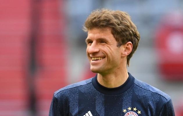 Thomas Müller võib naeratada - ta on tagasi koondises! Foto: Scanpix / Reuters / Andreas Gebert