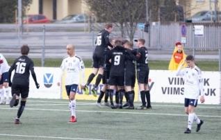 Esiliiga B-s viie mänguga 31 (!) väravat: Viimsi püsib vankumatult troonil, Purje juhitud Kalev U21 langes viimaseks