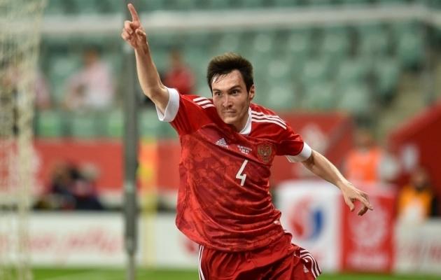 Teisipäevases kontrollmängus Poolaga (1:1) lõi Venemaa värava Vjatšeslav Karavajev. Foto: Scanpix / SIPApress / Rafal Rusek / PressFocus