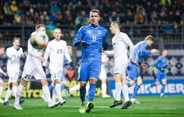 Ukraina kaotuseta seeriasse mahtus ka sõprusmängus saadud võit Eesti vastu. Foto: Jana Pipar / jalgpall.ee
