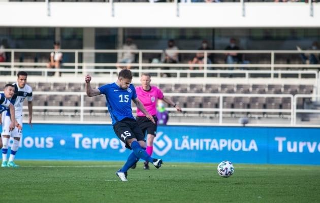 Rauno Sappinen lõi oma koondisekarjääri kaheksanda värava. Foto: Jana Pipar / jalgpall.ee