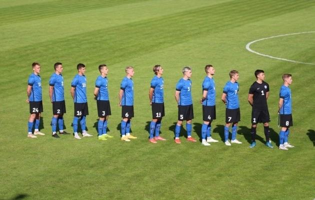 Eesti U-21 koondis mängus Leeduga. Foto: Eesti Jalgpalli Liit