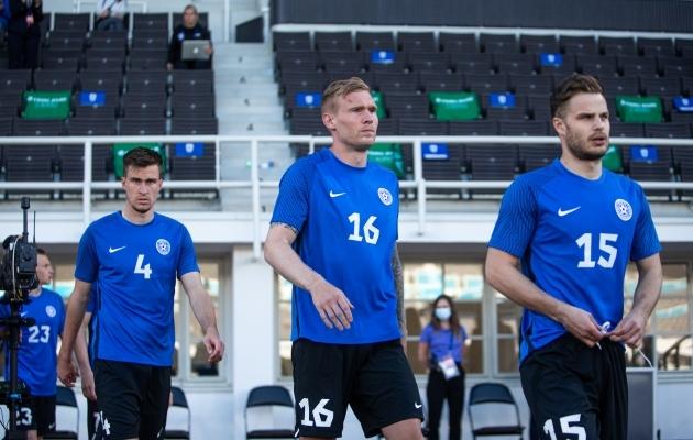 Joonas Tamm kerkis ühtlaselt hästi tegutsenud Eesti koondise parimaks. Foto: Jana Pipar / jalgpall.ee