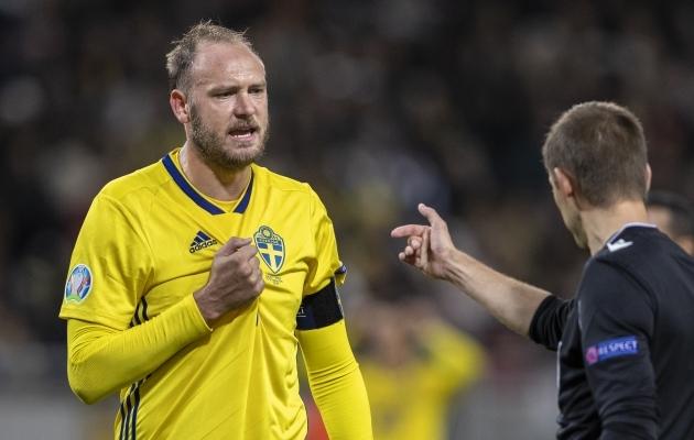 Andreas Granqvist mängib klubijalgpalli üliharva, aga EM-ile sõidab ikkagi. Foto: Scanpix / Imago images / Bildbyran / Andreas Eriksson