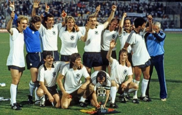Lääne-Saksamaa koondisest sai 1980. aasta EM-il esimene mitmekordne Euroopa meister. Foto: Scanpix / imago images / Sportfoto Rudel