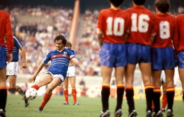 Michel Platini lõi EM-finaalturniiril viie mänguga üheksa väravat. Foto: Scanpix / imago images / Kicker / Liedel