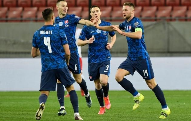 Milan Škriniar peab olema üks neist, kes slovakkide mängu veab. Foto: Scanpix / Reuters / Radovan Stoklasa