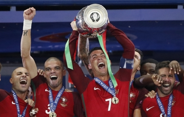 Portugal krooniti viis aastat tagasi esmakordselt Euroopa meistriks. Foto: Scanpix / Carl Recine / Reuters