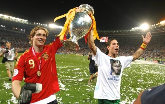 Noored ja võidukad Fernando Torres ja Sergio Ramos. Foto: Scanpix / imago images / Alex Nicodim