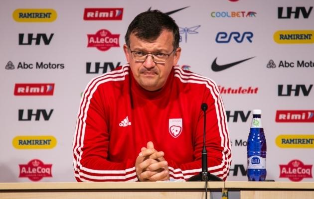 Läti jalgpallikoondise peatreener Dainis Kazakevics. Foto: Brits Marias Taels