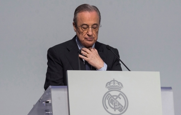 Real Madridi president Florentino Perez oli Superliiga projekti üks eestvedajatest. Foto: Scanpix / Rodrigo Jimenez / EPA