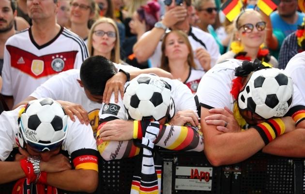 Saksamaa jalgpallikoondise toetajad 2018. aasta MM-i ajal. Foto: Scanpix / Reuters / Hannibal Hanschke