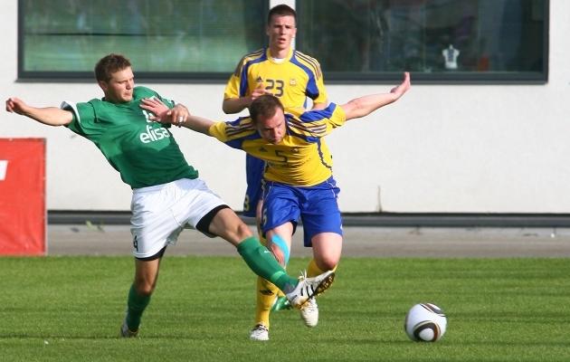 2010. aasta suvel mängis Ventspils Tallinnas FC Floraga Balti liiga poolfinaalis. Foto: Hendrik Osula