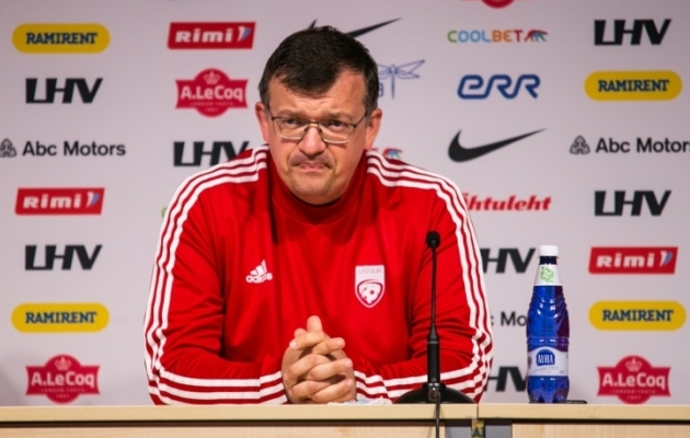 Läti peatreener Dainis Kazakevics. Foto: Brit Maria Tael