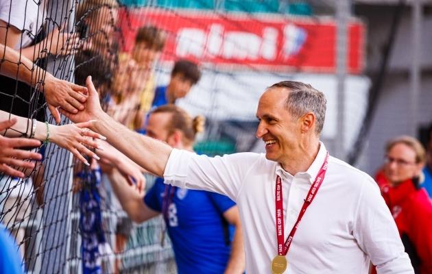 Thomas Häberli viis Eesti koondise Balti turniiri võiduni. Foto: Oliver Tsupsman