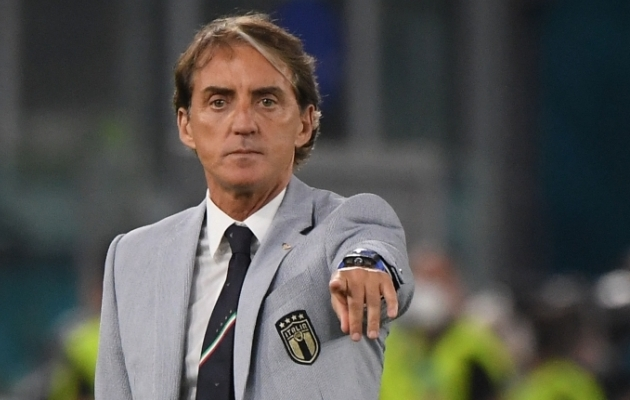 Itaalia koondise peatreener Roberto Mancini. Foto: Scanpix / AFP / Alberto Lingria