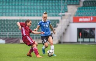 VAATA JÄRELE: Eesti naiste koondis võitis esimese poolaja väravate toel Lätit ja lõpetas Balti turniiri kolmanda kohaga