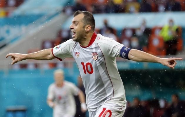 Goran Pandev tegi taas Põhja-Makedoonia jalgpalliajalugu. Foto: Scanpix / EPA / Robert Ghement
