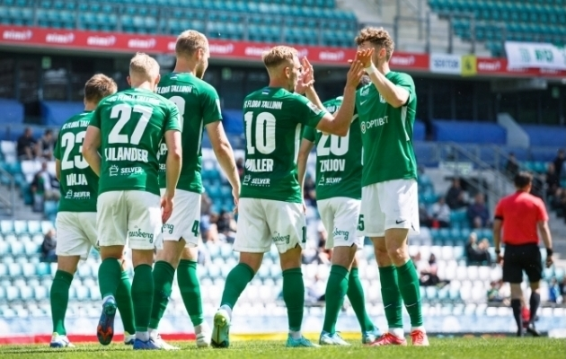 Tallinna FC Flora mängijad. Foto: Oliver Tsupsman