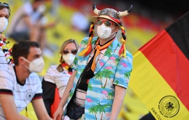 Jalgpallisõber Saksamaalt. Foto: Scanpix / Reuters / Lukas Barth-Tuttas
