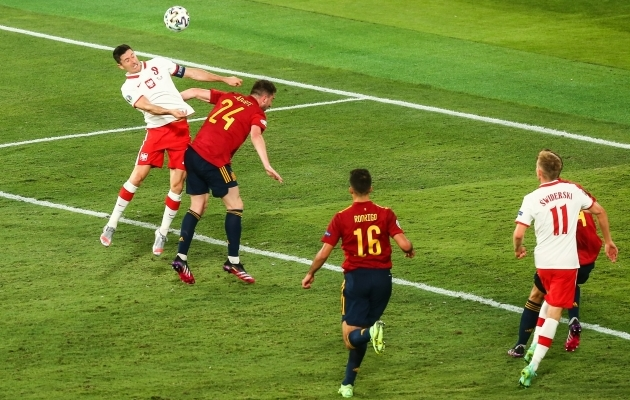 Laportest Lewandowski vastu suurt tolku ei olnud. Foto: Scanpix / Tomasz Jastrzebowski / Newspix via ZUMA Press