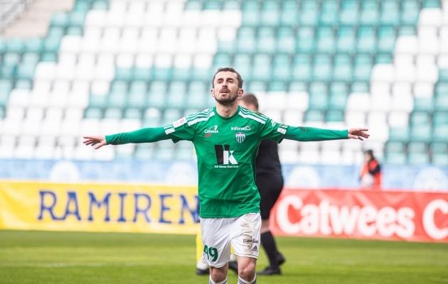 Vähe on mänge, kus Zakaria Beglarišvili ei saa tähistada. Foto: Jana Pipar / jalgpall.ee