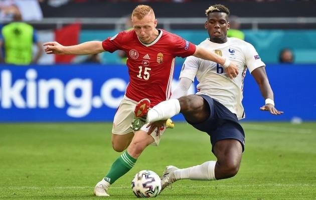 Kaks kanget: Laszlo Kleinheisler ei jäänud mängus Prantsusmaaga Paul Pogbale millegi poolest alla. Foto: Scanpix / AFP / Franck Fife