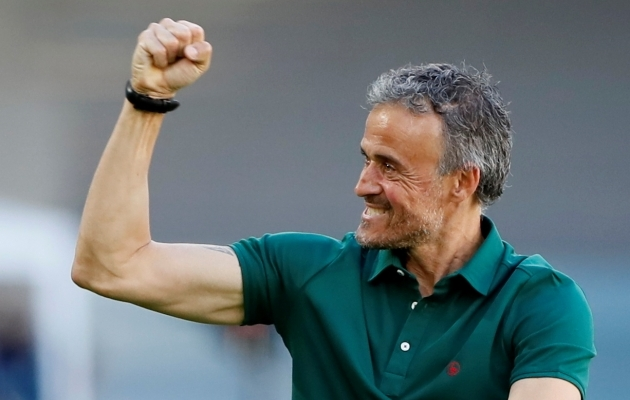 Hispaania peatreener Luis Enrique. Foto: Scanpix / Reuters / Jose Manuel Vidal