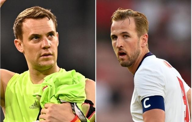 Manuel Neueri ja Harry Kane'i suur vastasseis. Kumb jääb peale? Fotod: Scanpix / EPA / Lukas Barth-Tuttas ja Scanpix / Reuters / Peter Powell
