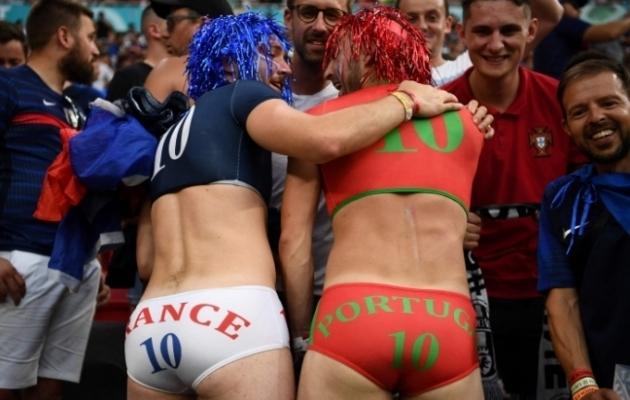 Prantsusmaa ja Portugali fännid on ekstraklassist, aga Soccernet.ee ajakirjaniku Ott Järvela edetabelis kumbki meeskond esikolmikusse ei mahu. Foto: Scanpix / AFP / Franck Fife