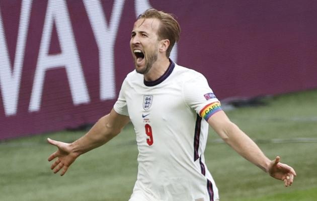 Harry Kane pärast Saksamaale löödud väravat. Foto: Scanpix / AFP / John Sibley