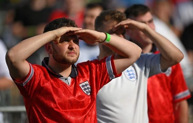 Inglismaa koondise fännid. Foto: Scanpix / AFP / Oli Scarff