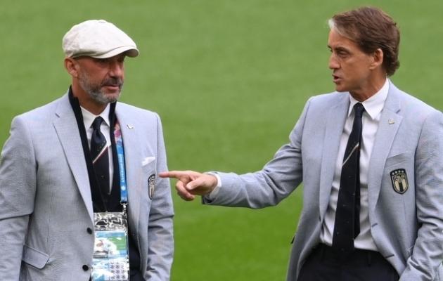 Kes on EM-i kõige stiilsemad treenerid? Mõttetu küsimus, duo Mancini-Vialli tõmbab kõigile soni silmile. Foto: Scanpix / AFP / Laurence Griffiths