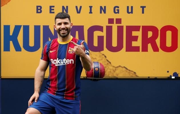 Sergio Agüero FC Barcelona särgis. Foto: Scanpix / Reuters / Albert Gea