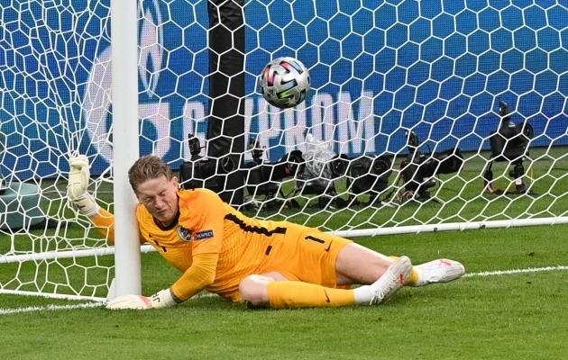 Inglismaa koondise väravavaht Jordan Pickford. Foto: Scanpix / Justin Tallis / Pool / AFP