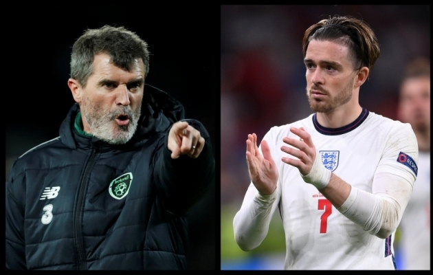 Roy Keane'il (vasakul) jagus Jack Grealishi suunal kurje sõnu. Mängumees ei jäänud vastust võlgu. Foto: Scanpix / Matthew Childs / Laurence Griffiths / Reuters