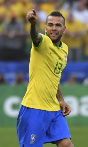 Copa America lõppes Dani Alvesi ja Brasiilia jaoks pettumusega, sest finaalis kaotati 0:1 Argentinale. 38-aastane vanameister ihkab olümpial teha vigade paranduse. Foto: Scanpix / AFP / Nelson Almeida