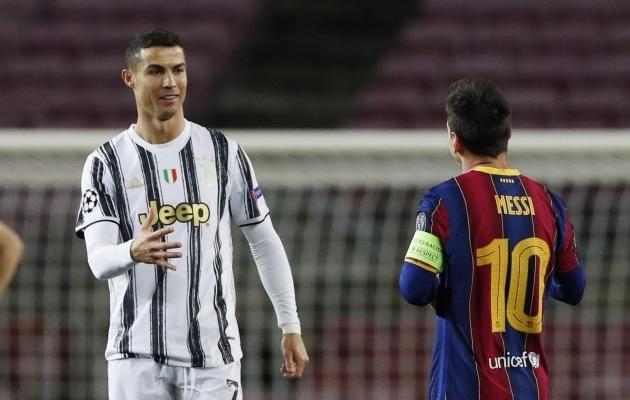 Cristiano Ronaldo ja Lionel Messi. Foto: Scanpix / Albert Gea / Reuters