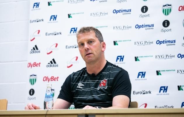 Dundalki peatreener Vincent Perth. Foto: Brit Maria Tael